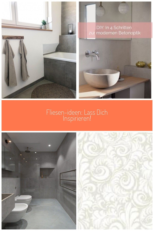 Badezimmer Bad Fliesen Betonoptik Kleinesbad Handtuch Badezimmer Betonoptik Fliesen Ideen Lass Dich Inspirieren In 2020 Bathroom Bathtub Alcove Bathtub