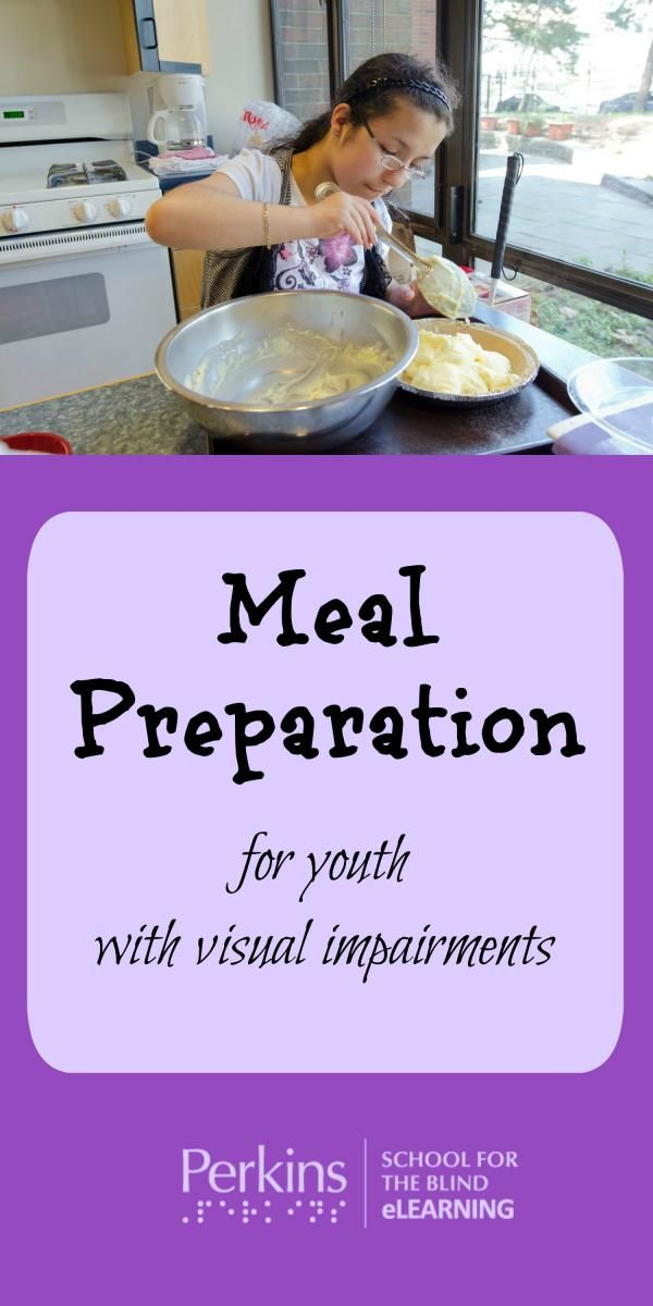 Meal Preparation Food Preparation Visually Impaired