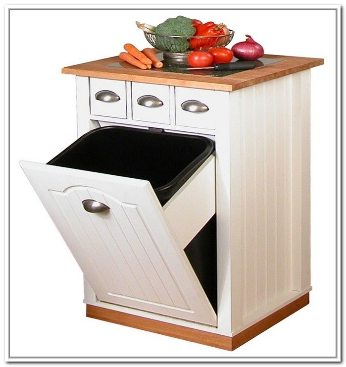 Tilt Out Trash Bin Storage Cabinet General Storage Best Storage Ideas Lvyqbap7vp Portable Kitchen Island Kitchen Island With Granite Top Portable Kitchen