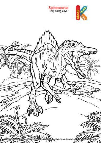 Spinosaurus Si Rahang Buaya Purba Buaya Gambar Hewan Hewan