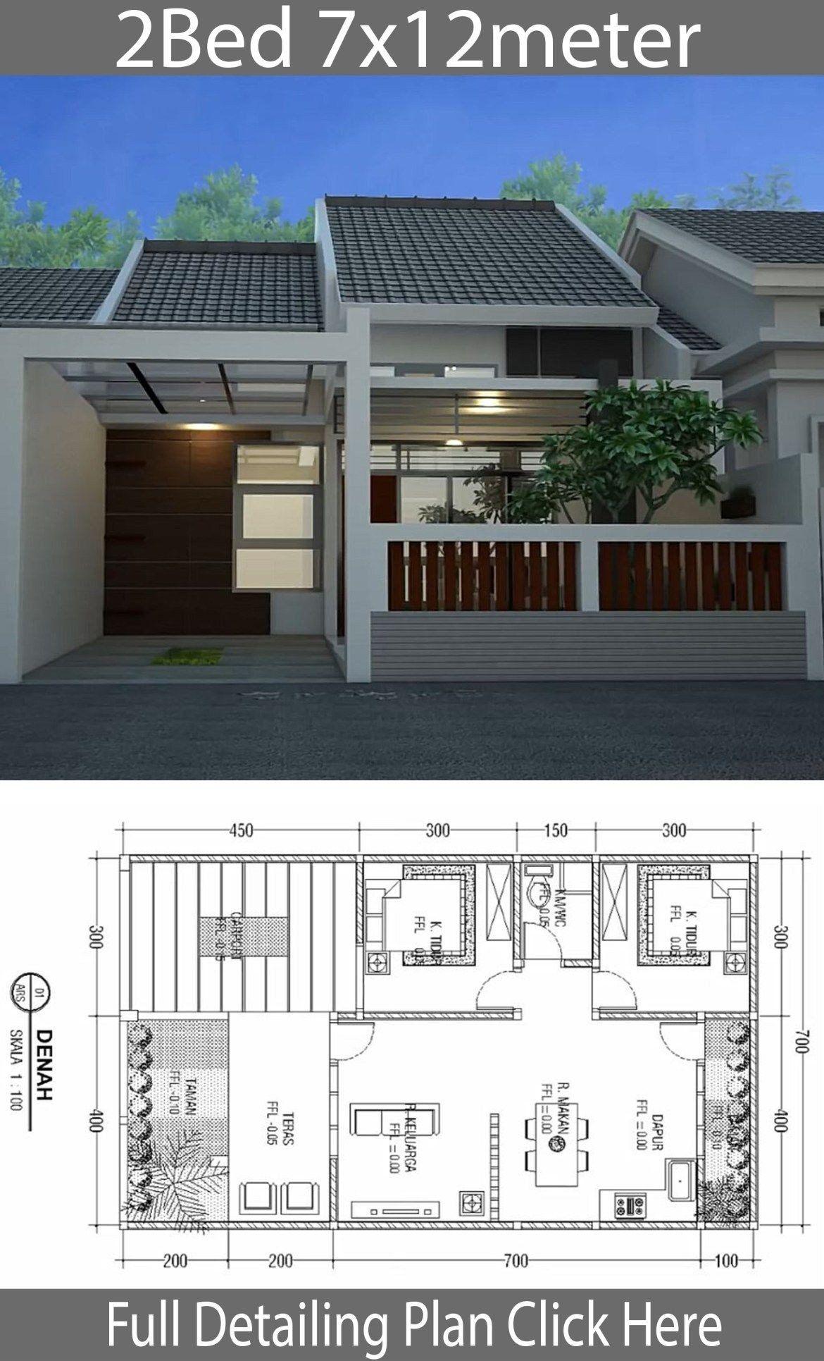 Modern House Designs One Floor Minimalist Floor Design E Floor House 7x12m Rumah Hijau Arsitektur Rumah Minimalis