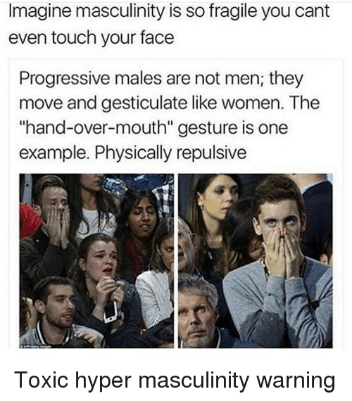 Imagine being so fragile that you can't even touch your own face.
