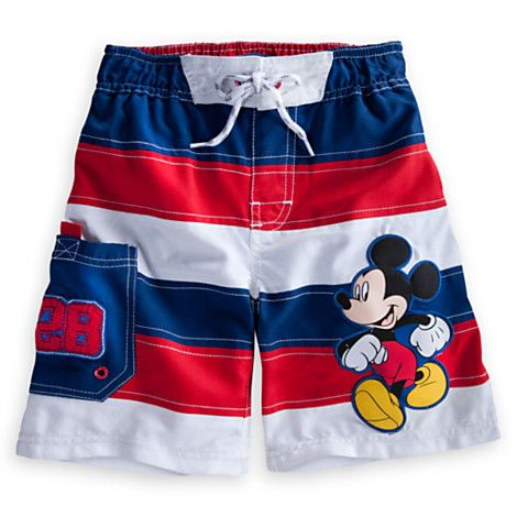 Disney Baby Mickey Mouse Red Boys Swimwear Boardshorts Swim Shorts New with Tag