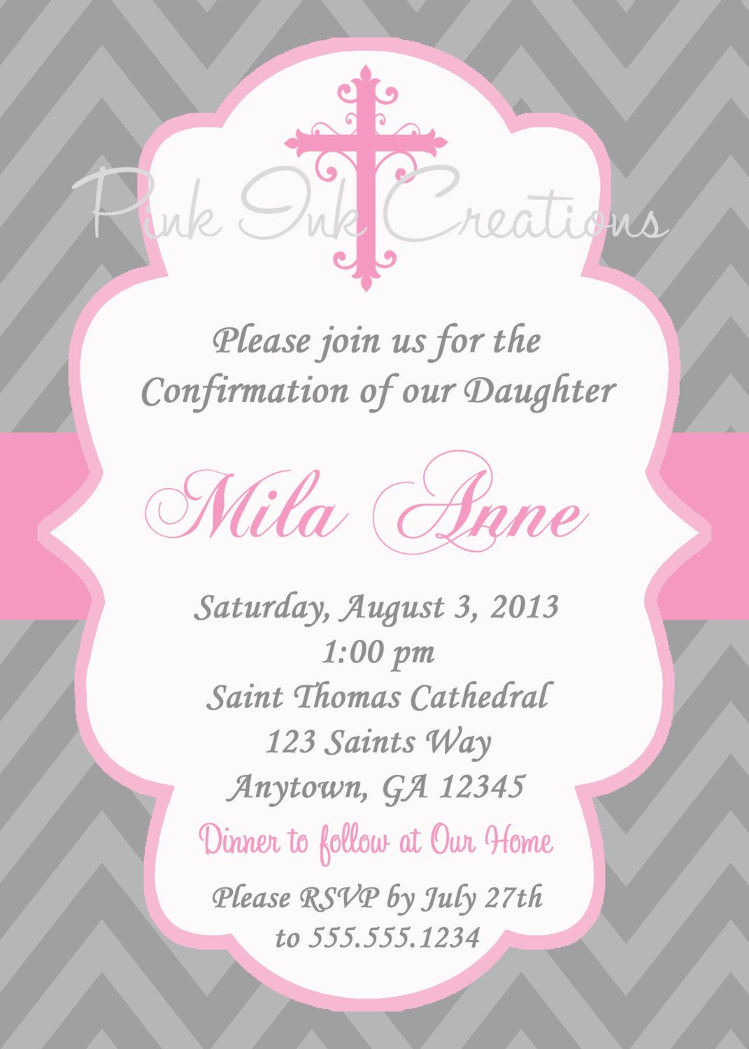It's just a graphic of Vibrant Free Printable First Communion Invitations