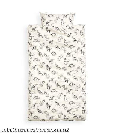 Bílé povlečení s dinosaury H&M | Dinosaur bedding, Duvet ...