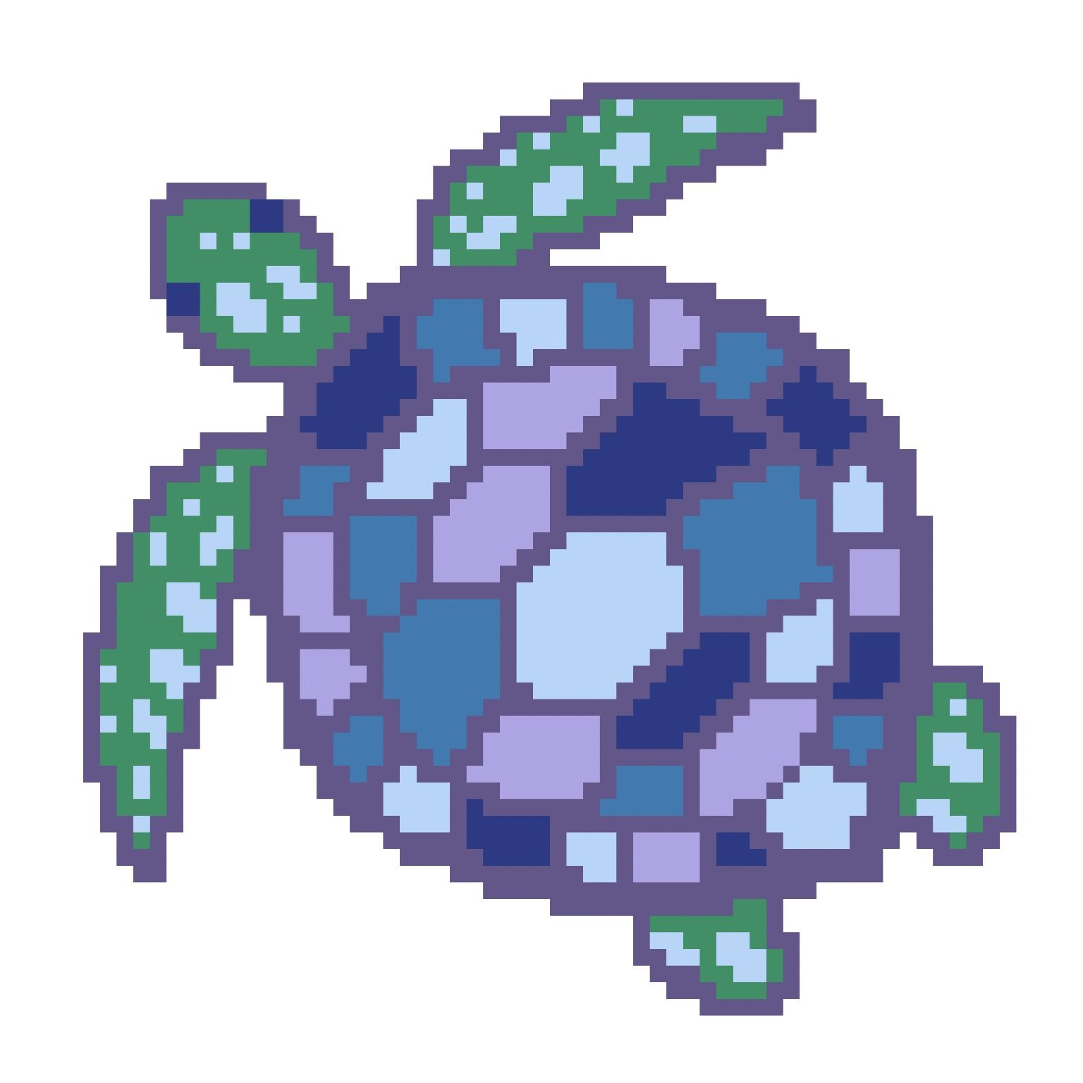 A pretty turtle from color by numbers app, Pixel Pics ...