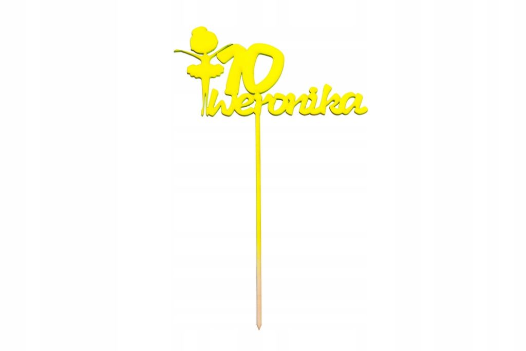 Urodzinowy Cytrynowy Neon Topper Na Tort Baletnica Party Topper Wedding Cake Toppers Cake Toppers