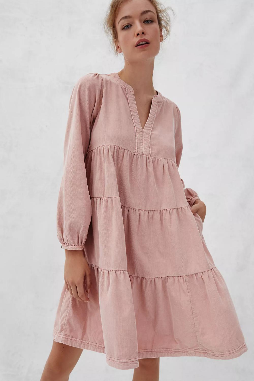 Laney Corduroy Tiered Tunic Dress Anthropologie Tunic Dress Dresses Corduroy Dress [ 1500 x 1000 Pixel ]