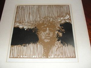 1960's Original Woodblock Print of Protest Movement Proof 1 J R Signed cant identify signiture - 150.00 like it