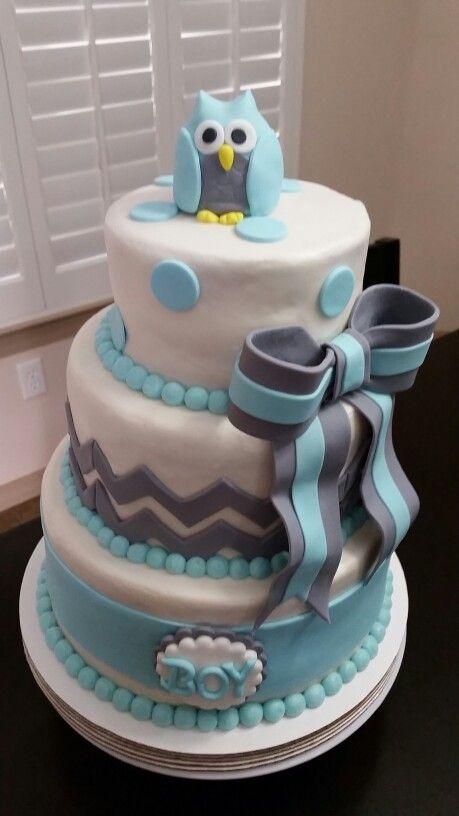 Babyshower Cake Boy Babyshower Cake Owl Babyshower Cake Cake