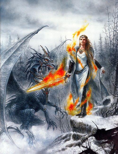 Entropia • Luis Royo Dragon Blade