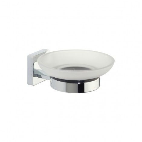 Roper Rhodes Glide Frosted Glass Soap Dish & Holder