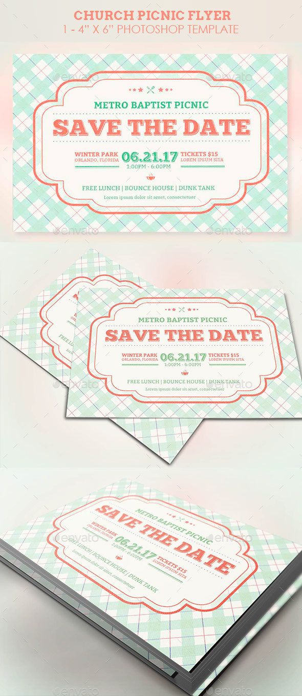 Church Picnic Flyer Template  Church Picnic Flyer Template And