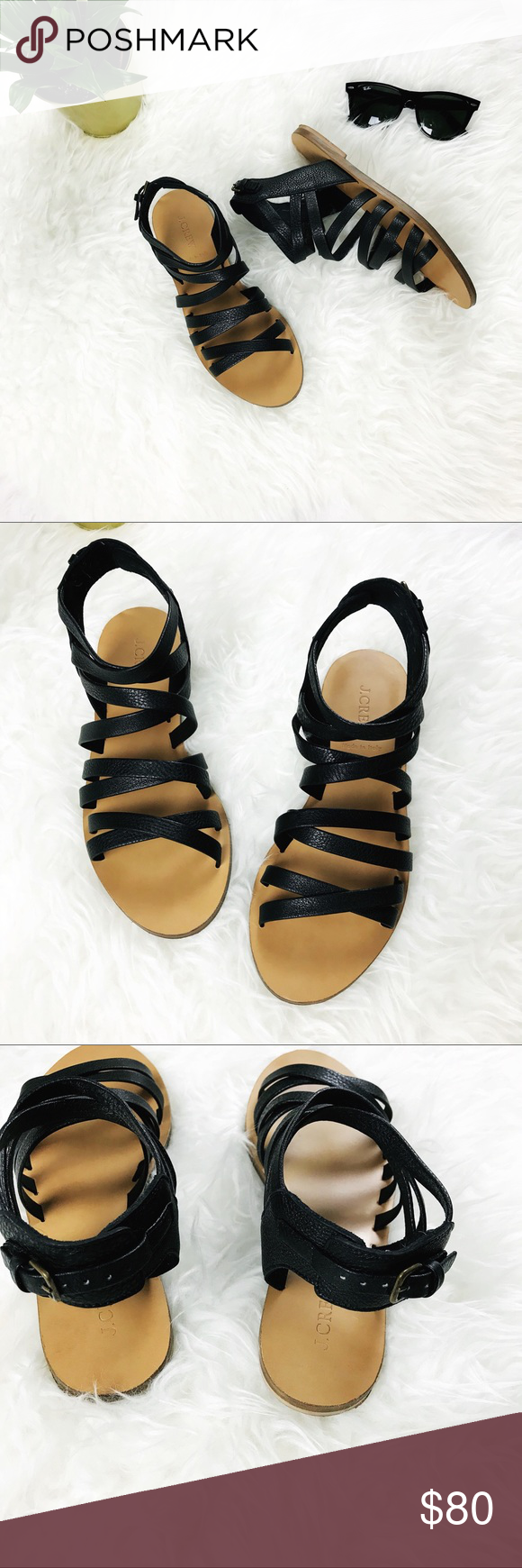 cd86240d634 J.CREW Callista Gladiator Sandals Gorgeous gladiator sandals made out of  buttery soft Italian leather