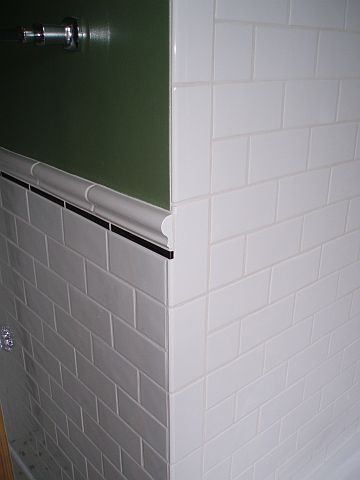Ending Chair Rail At An Outside Corner Ceramic Tile