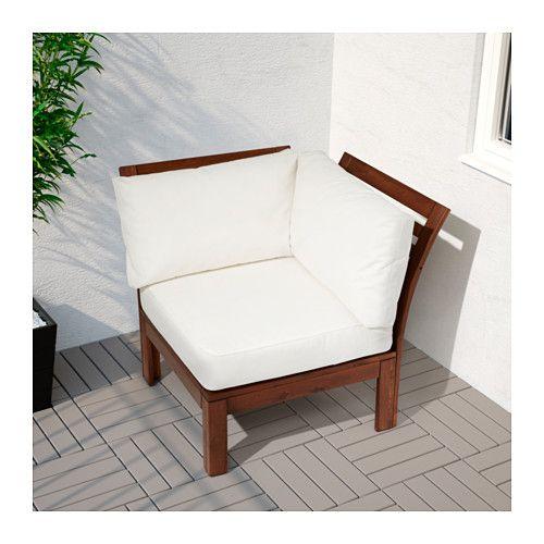 Garden Furniture Corner Sofa Ikea: Corner Section, Outdoor ÄPPLARÖ Brown Stained Brown