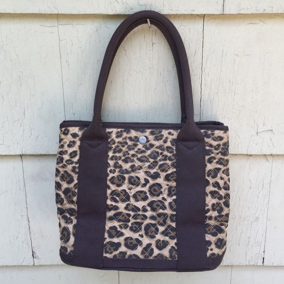 SALE J Crew Animal Print Tote Bag Adorable J Crew Animal Print Tote Bapg. Brown Trim and Lining. Snap close. Inside open pockets. Measures 12x9.5x6. Clean. No trades J. Crew Bags Totes