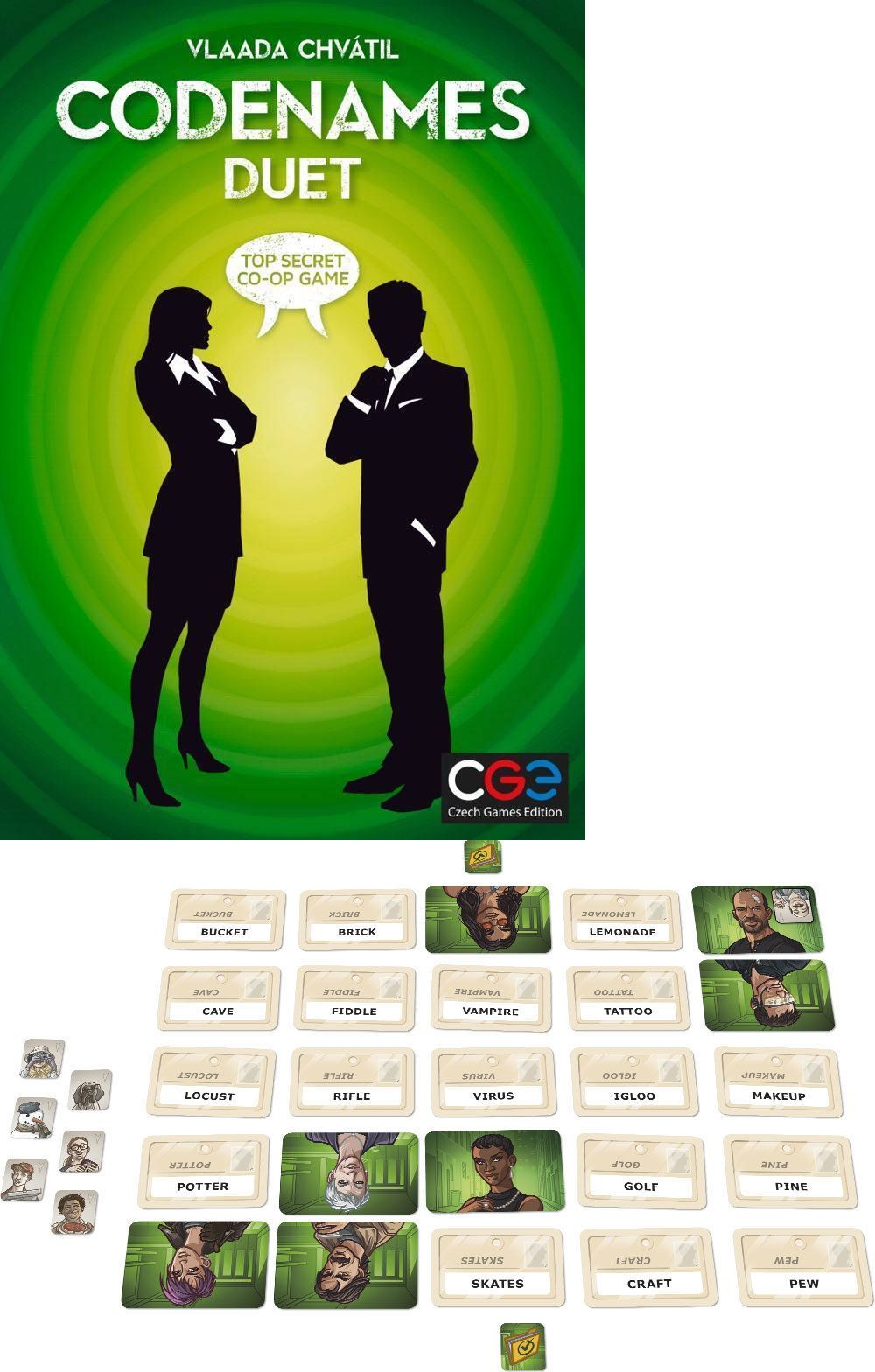 Contemporary Manufacture 180349 Codenames Duet Game Brand New Sealed Buy It Now Only 25 On Ebay Contemporary Manufac Duet Game Code Names Name Games