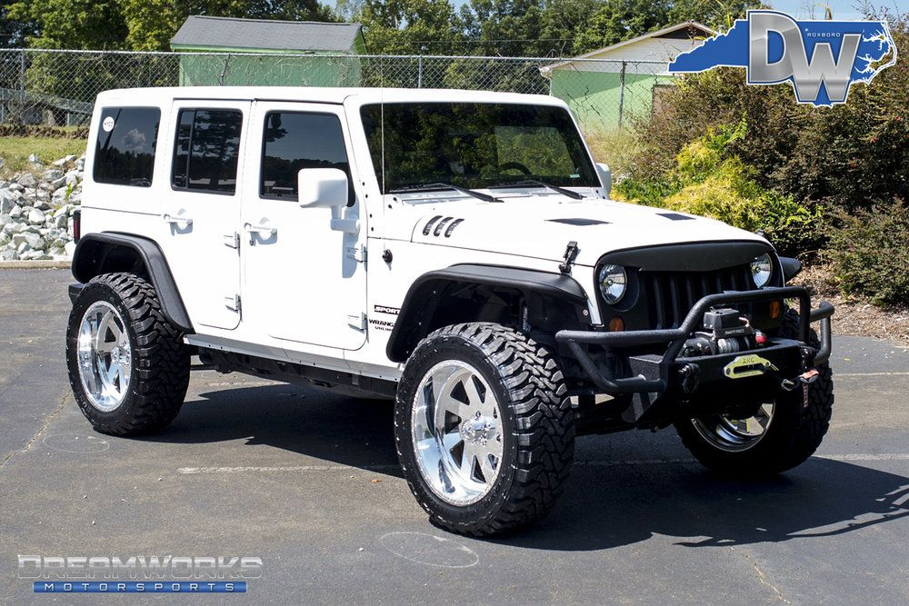 White Jeep Wrangler American Force Dreamworks Motorsports In