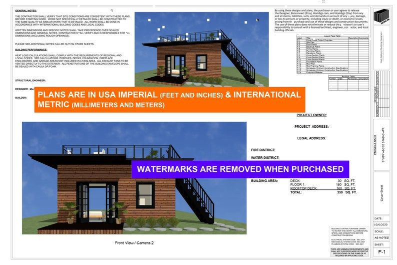 Shipping Container Studio Apartment Tiny Home Construction Plans Airbnb Floor Plan Architectural Designs Diy Container Home Building Plans In 2021 Building Plans House Container House Construction Plan