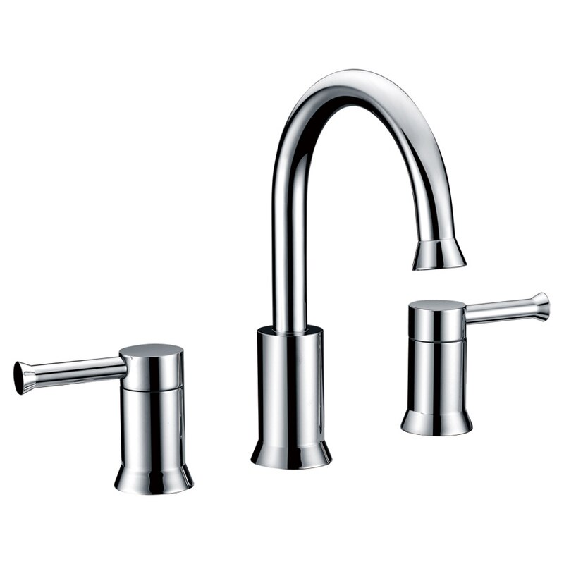 Dowell 8001 003 Widespread Bathroom Vanity Faucet Chrome Brushed