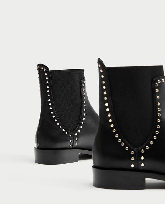 grande variété de styles sélectionner pour l'original produit chaud Bottines plates cloutées - taille 37 - 40€ | Fashion style ...