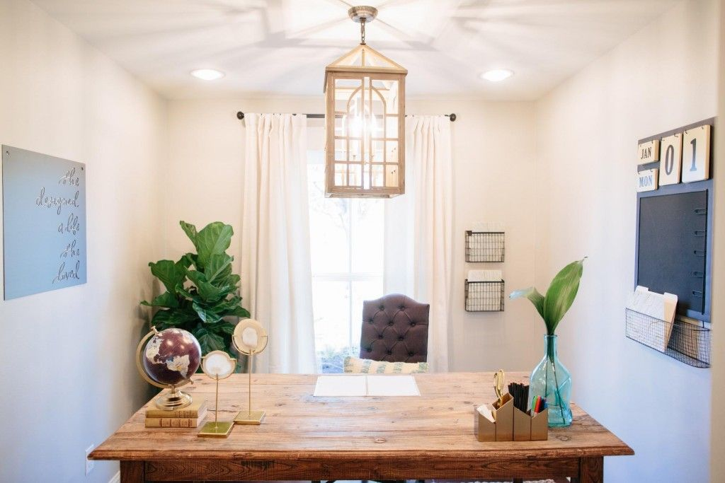 We Turned The Existing Dining Room Into A Perfect Sized Home Office For Lindy Added Sliding Barn Doors Leading From Kitchen To Extra