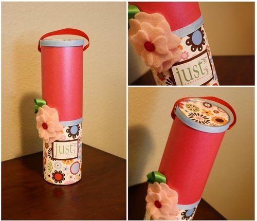 Artesanato e reciclagem, faça embalagem de presente com lata de pringles | Cacareco