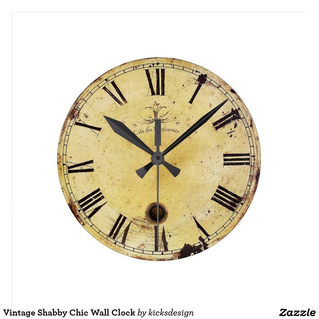 Vintage Shabby Chic Wall Clock | Wall clocks, Clock and Shabby