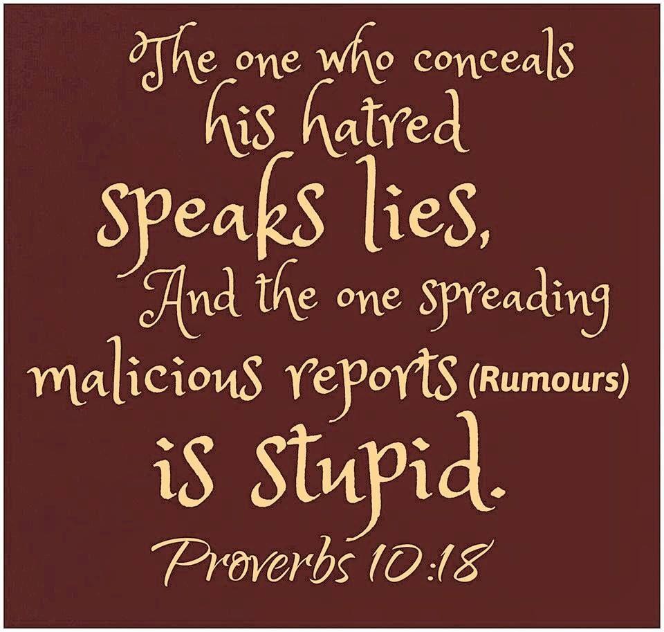 Bible Verse Gossip And Lies