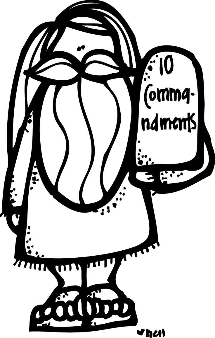 ten clipart black and white. moses u0026 the ten commandments black white clipart and n