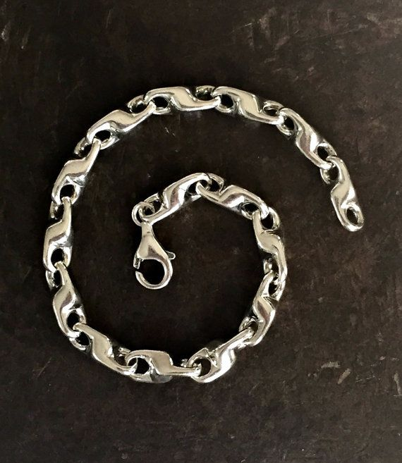bracelet silver bali solid pin cube chains byzantine chain king mens sterling