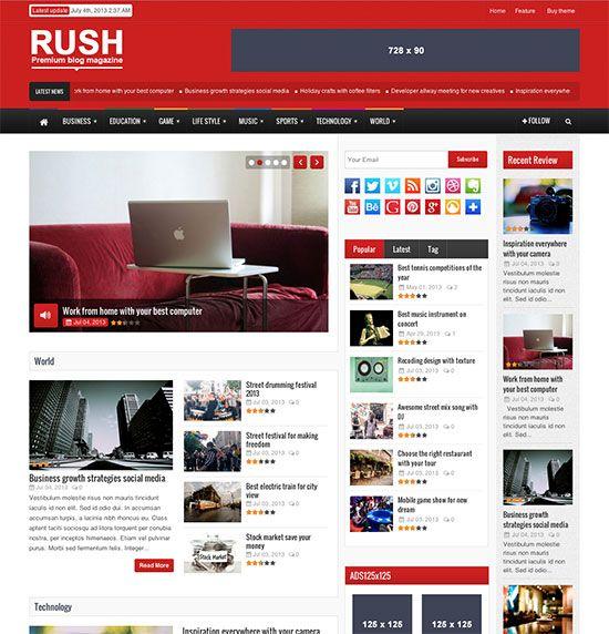 Rush – Plantilla WordPress para periódicos, revistas y blogs ...