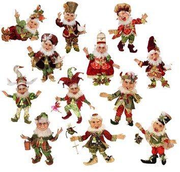 Mark Roberts Twelve Days Of Christmas Elves Set Of 12 Limited Edition Mark Roberts Elves Christmas Elf 12 Days Of Christmas