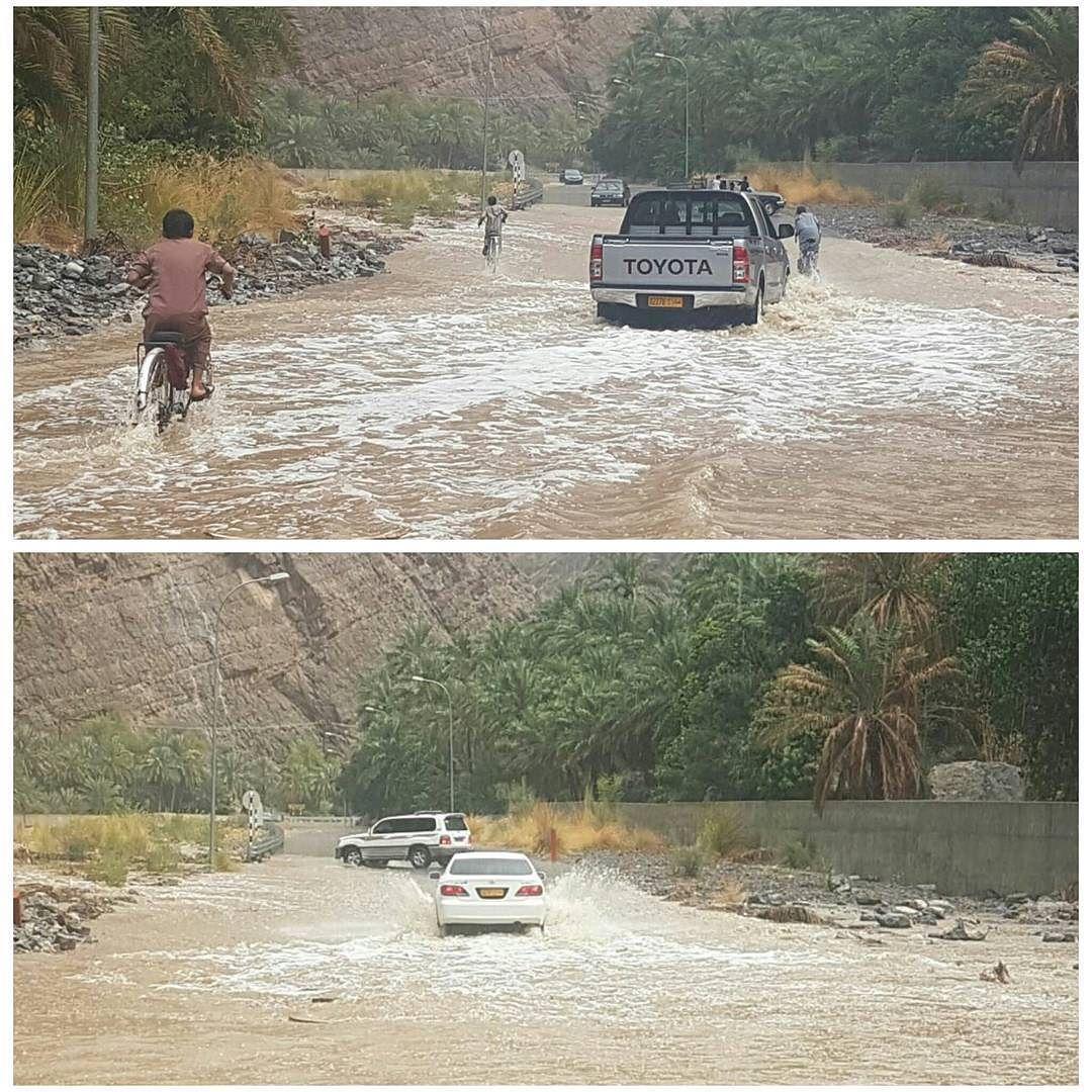 شبكة أجواء عمان أمطار و شلالات وادي بني عوف الرستاق من الزميل ابوعزام G S Chasers Alyasatnet Instagram Instagram Posts Road