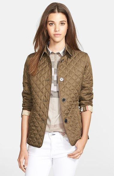 Burberry Brit Copford Quilted Jacket Nordstrom Quilted Jacket Jackets Jackets For Women