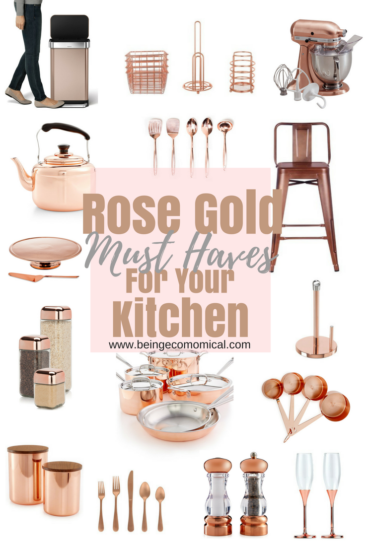 Rose Gold Must Haves For Your Kitchen Rose Gold Kitchen Copper Kitchen Appliances Gold Kitchen