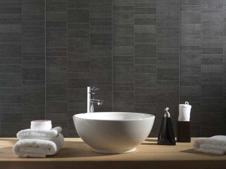Ce lambri en PVC effet carrelage pour habiller votre salle de bains - repeindre du carrelage de salle de bain