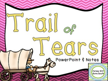 Trail of Tears PowerPoint and Notes Set | | 4th Grade