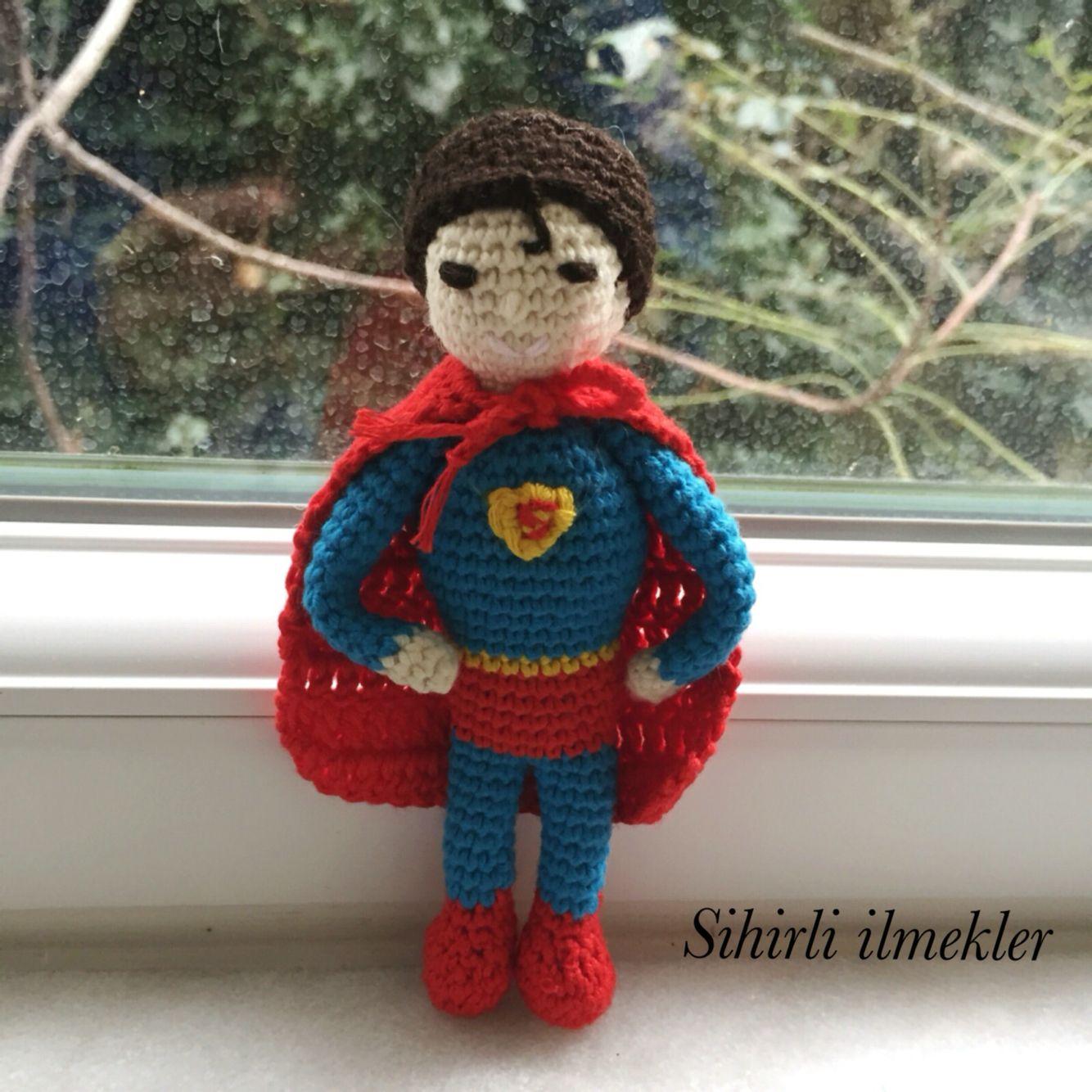Süper kahramanımız dünyayı yeni tehlikelere karşı korumak için hazır  #amigurumi #superman #heroes #tığişi #handmade #crochet
