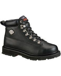 beb31a618b4b Harley Davidson Mens Drive Lace-Up Boots - Steel Toe