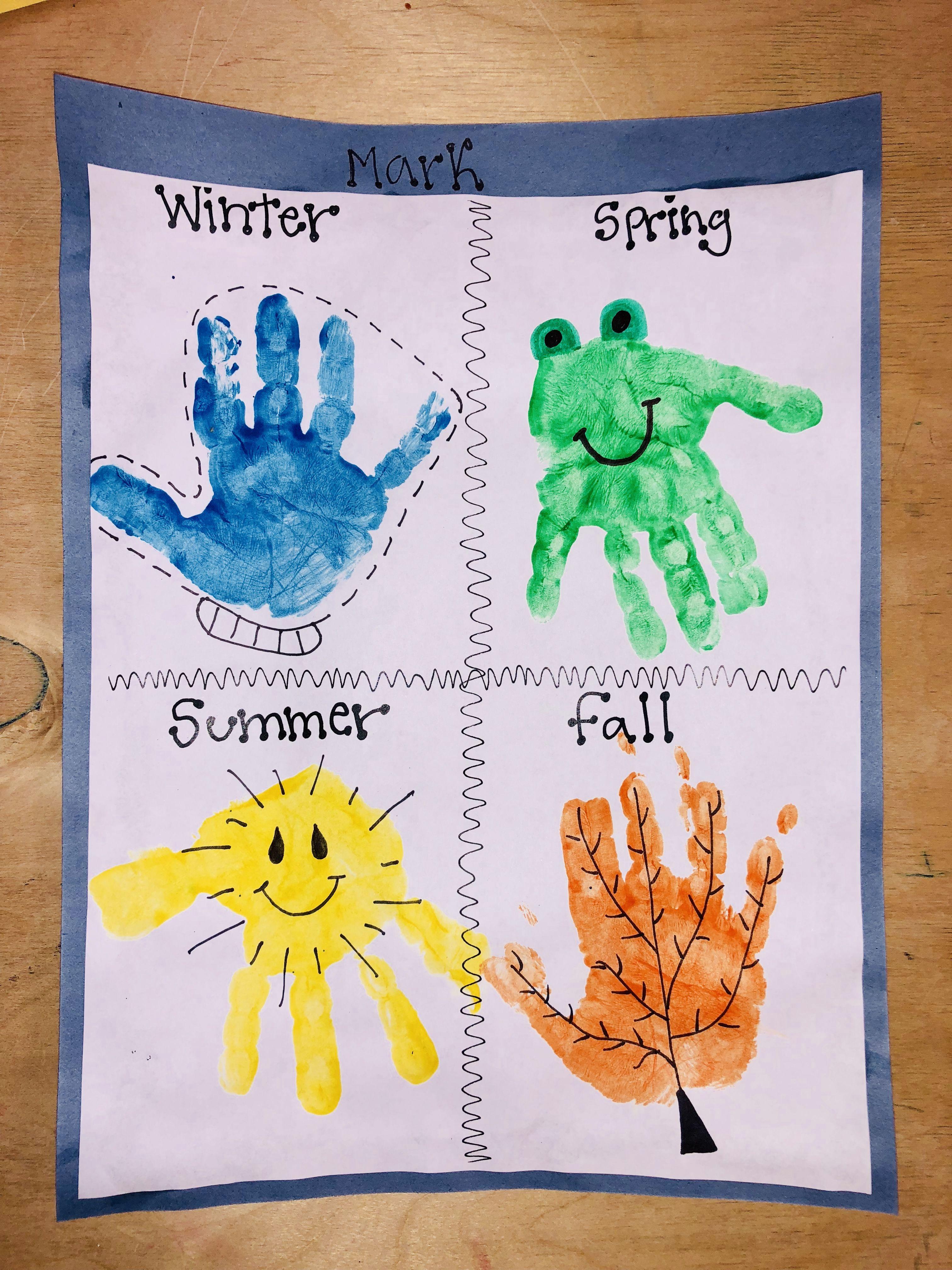 Season Handprint Craft
