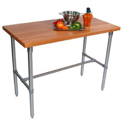 "John Boos Cucina Americana Counter Height Bar Table Size: 40"" H x 48"" W x 24"" D, Finish: Cherry"