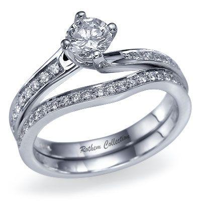 Example 4 Prong Twist With Side Diamonds And Wedding Band Like Overall Affect Diamond