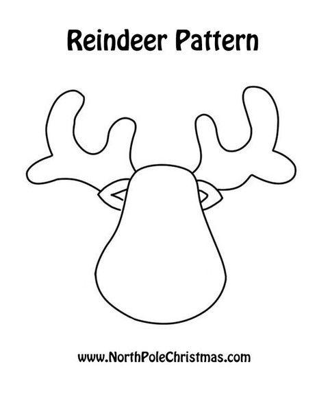 reindeer head template printable