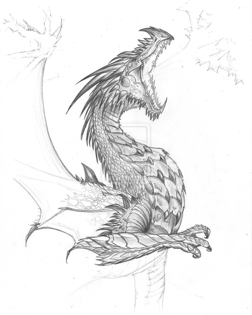 realistic dragon fighting pictures