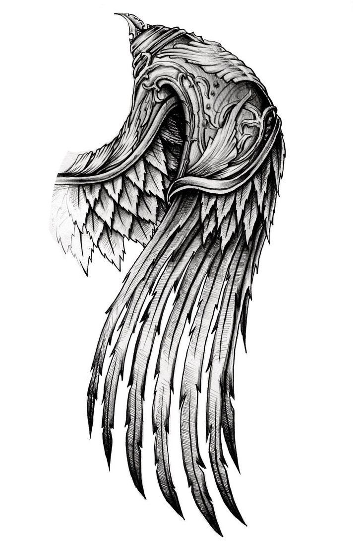 ornate wing by AYEUHONE is part of Nordic tattoo -