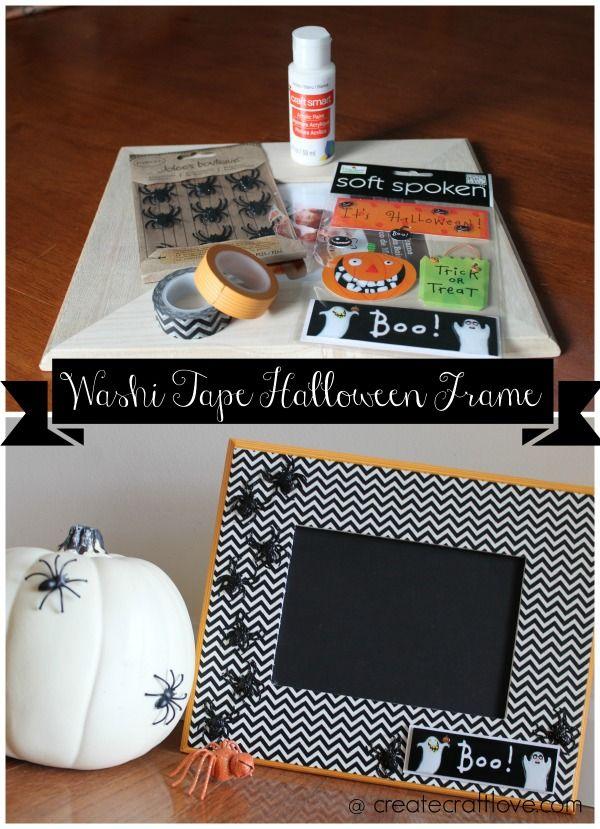 Washi Tape Halloween Frame Halloween frames, Washi tape and Washi - halloween decorations to make on your own