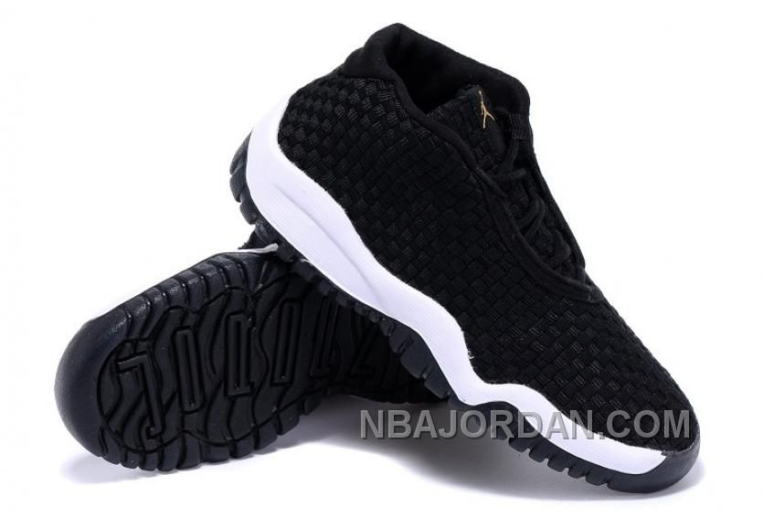 95a6effe50d Nike Air Jordan Future Black Woven White Gold Anthracite GS Big Kids ...