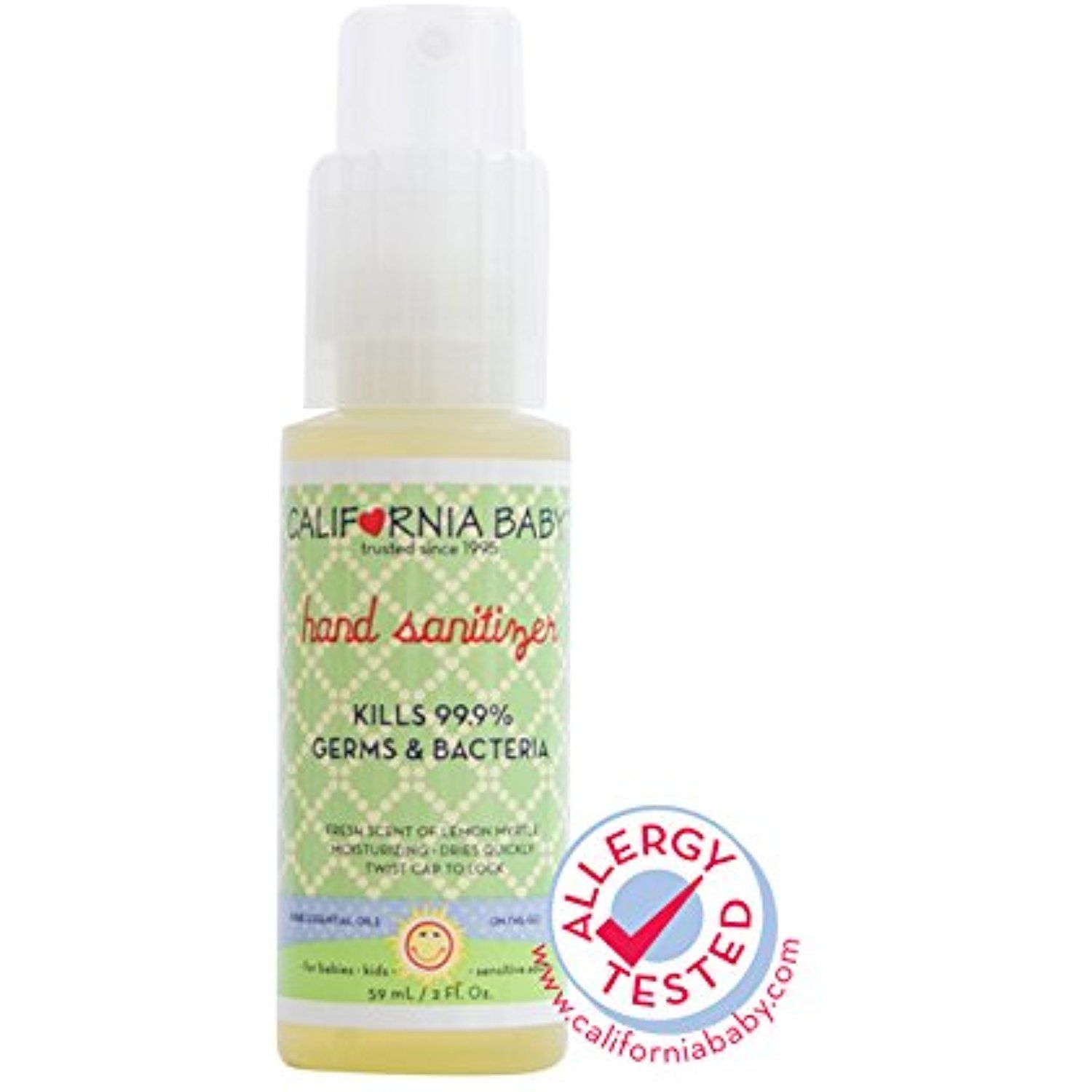 California Baby Hand Sanitizer Natural Lemon Myrtle 2 Oz Find